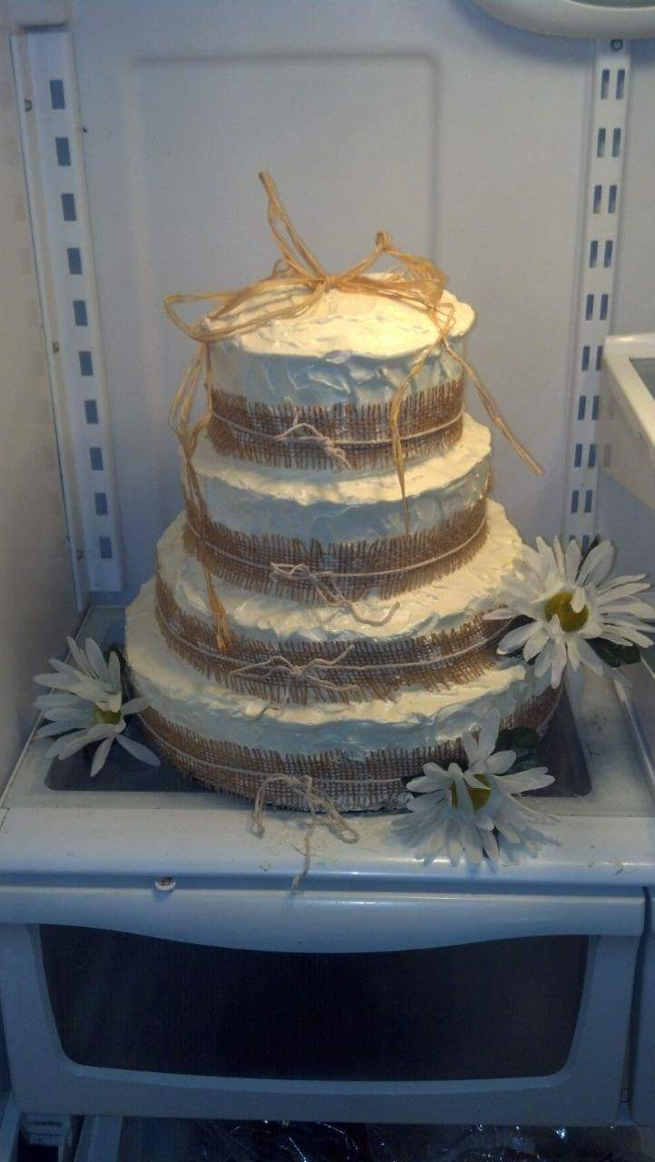 Custom Rustic Wedding Cake